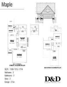 Floor Plan (Walker Meadows Maple) Version 1 D&D Custom Homes