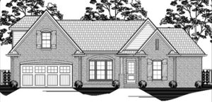 Memphis Home Builders | 14 90A Model Elevation