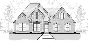 Memphis Home Builders | 15 58J Model Elevation