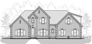 Memphis Home Builders 21 82k Model Elevation