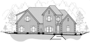 Memphis Home Builders 22 79R Reverse Elevation