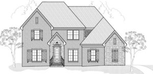 Memphis Home Builders | SR Dalton Floor Plan Elevation