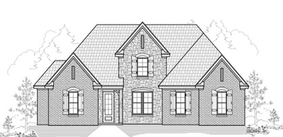 Memphis Home Builders | SR Remington Floor Plan Elevation